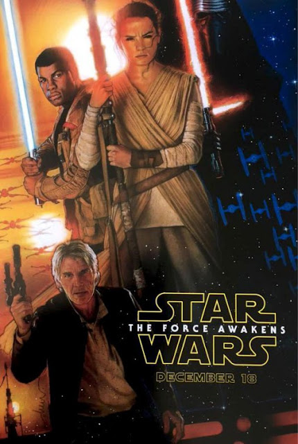 D23 Expo Exclusive Star Wars Episode VII The Force Awakens Teaser Movie Poster by Drew Struzan