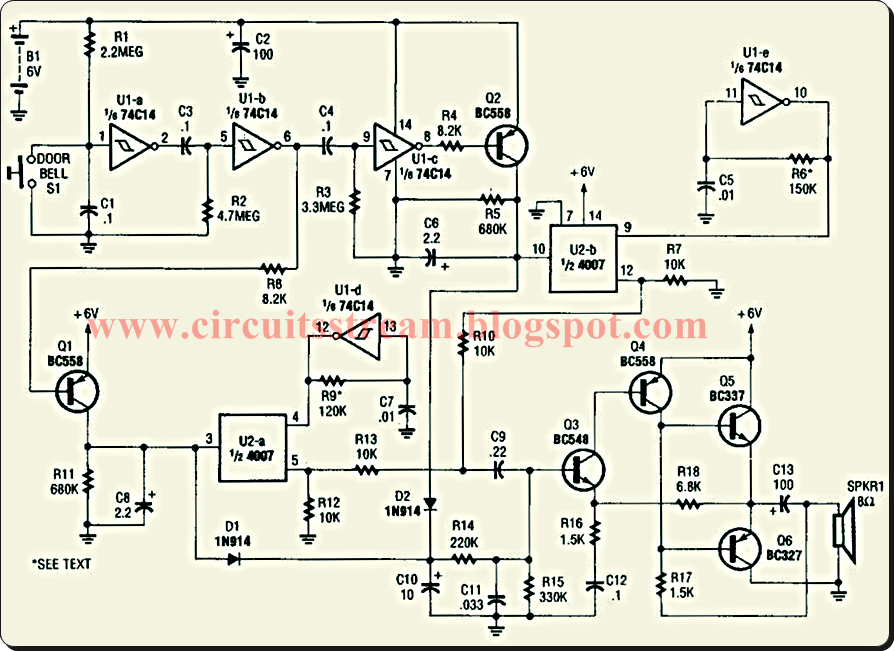Build A Power Doorbell Circuit Diagram