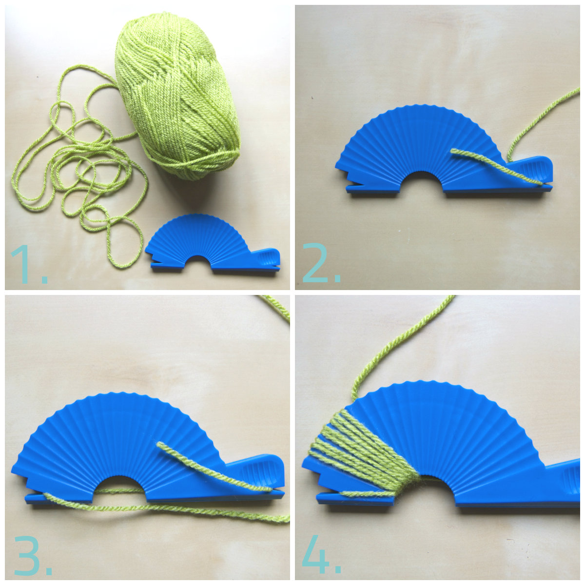 Diy guirnalda de pompones la bici azul blog de - Como hacer pompones de lana rapido ...