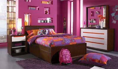 dormitorio adolescente púrpura