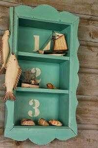 Leuk klein hangkastje in turqoise blauw