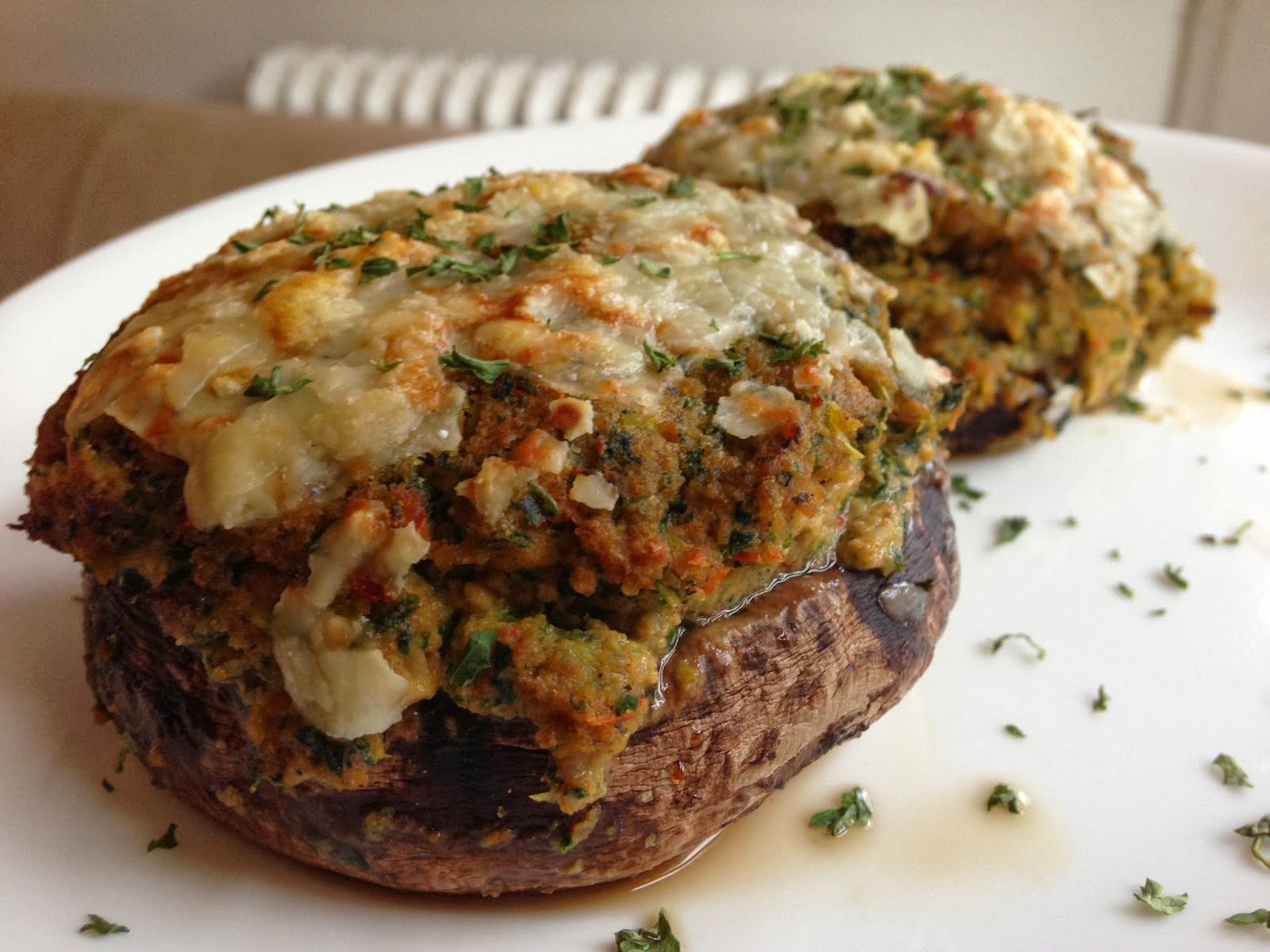 Worthy Pause Paleo Food Blog: Paleo Stuffed Portabella Mushrooms Recipe