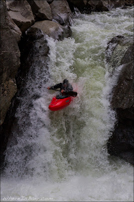 Joel Cameron sailing away on entrance falls, Chris Baer, Vallecito, water fall, CO colorado