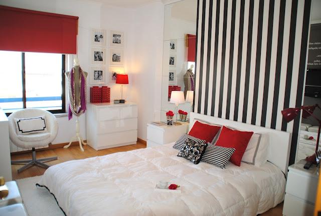 blog de decoração, decoração de quitinete, decoração em preto e vermelho