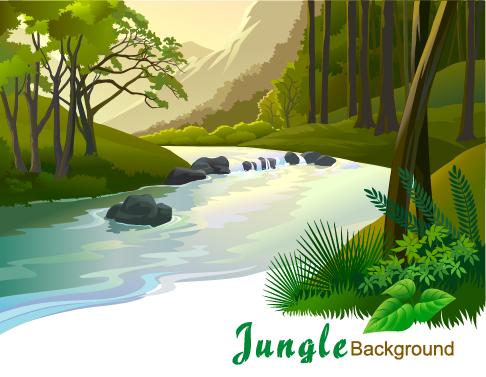 Jungla - ilustraciones vectoriales - 6