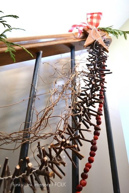 How to make a twig garland... for free! by Funky Junk Interiors