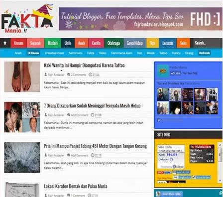 Fakta Mania Seo Responsive Blogger Template