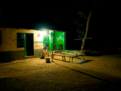 Lonely tea shop or canteen in Santiniketan, West Bengal, India