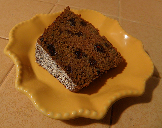 Slice of Applesauce Cake Plated