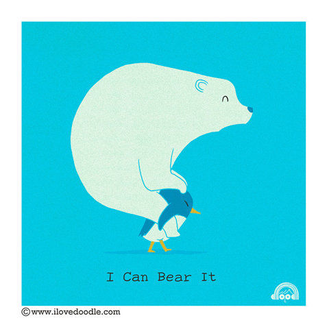 I Can Bear It Funny Doodle