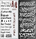 157 Graffiti and Distorted Fonts Pack