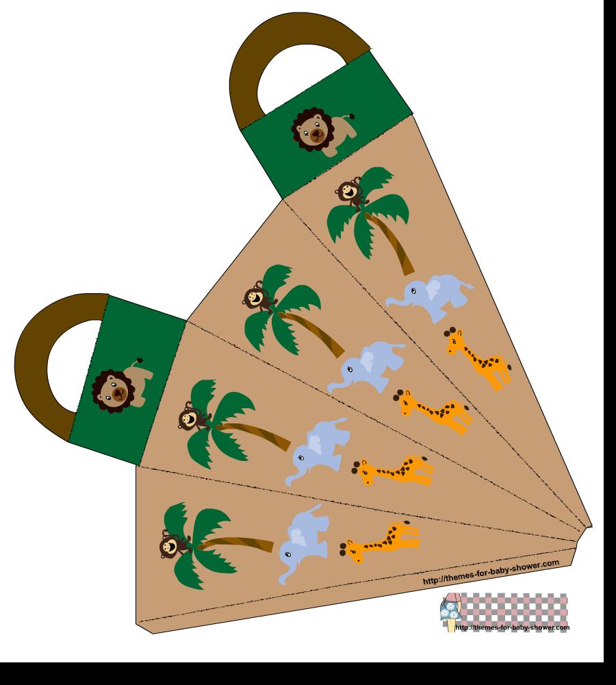 Caja zanahoria para imprimir gratis de la Selva para Baby Shower.