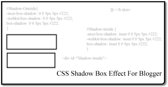 CSS Shadow Box Effect For Blogger - වැදගත් වාක්යකට Shadow Box Effect එක දාමු