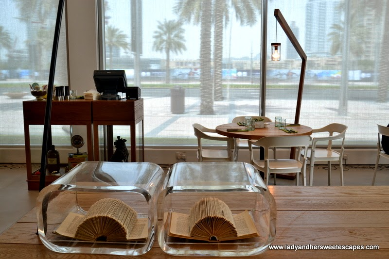 The Pavilion restaurant and cafe at Downtown Dubai