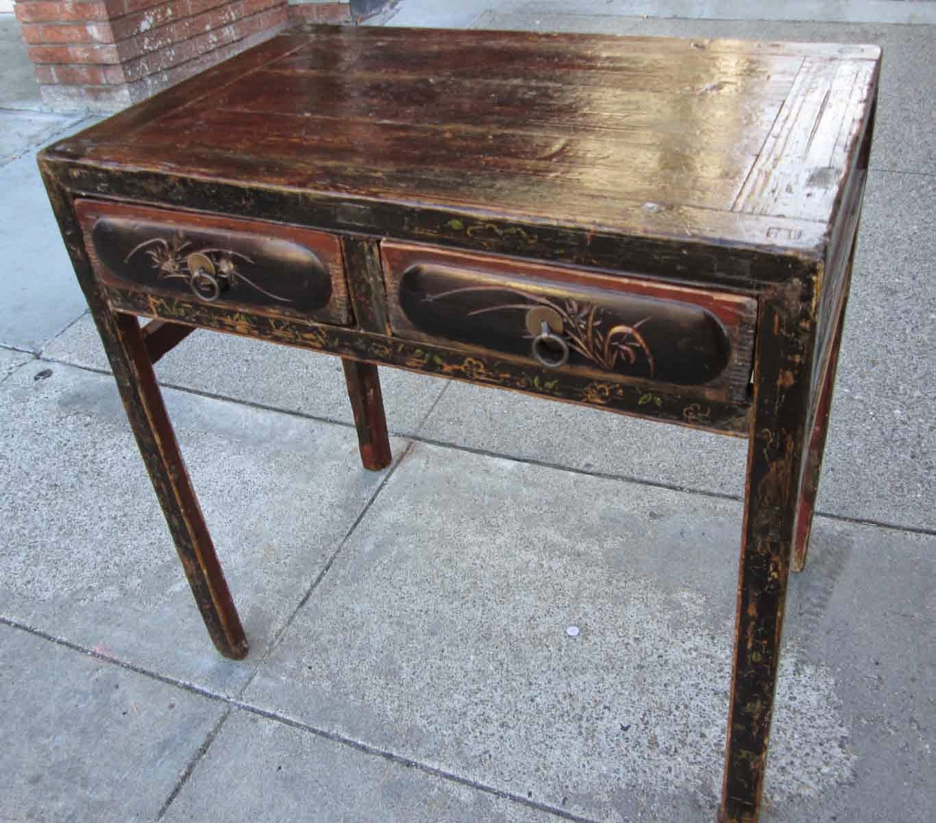 Uhuru furniture collectibles sold petite and antiqued for Asian inspired desk