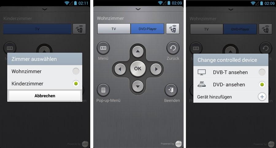 WatchON: Remote Auswahl