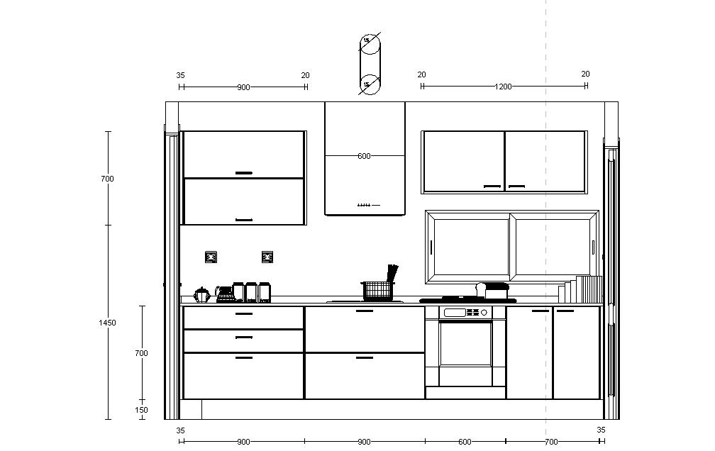 Medidas de una cocina perfect dimensiones para muebles de for Dimensiones cocina integral