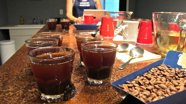 coffee cupping by Airship coffee (c)nwafoodie