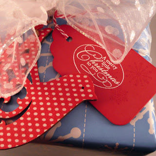 Turtle Dove Christmas Gift Tag