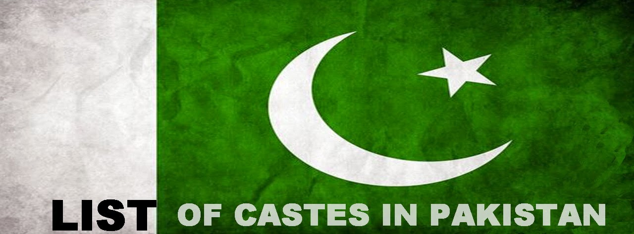 List of Castes in Pakistan