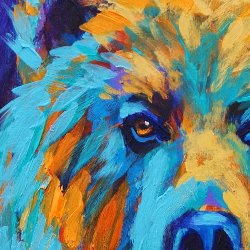 California Artwork: Colorful Animal Art, Grizzly Bear ...
