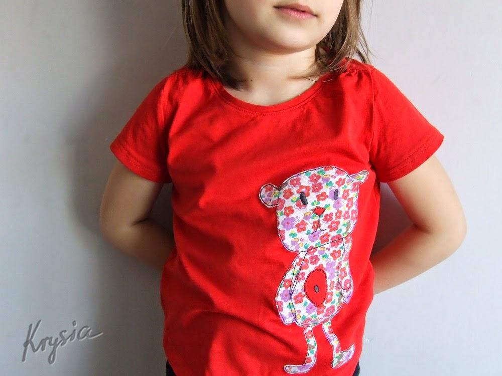koszulka z misiem handmade