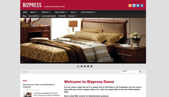 Bizpress WordPress Theme Free Download by WPZoom.