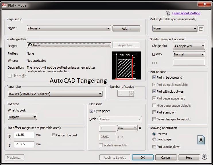 Cara Melakukan Multiple Plot Dalam AutoCAD.