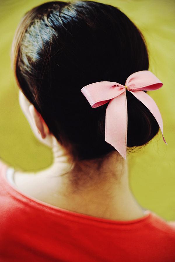 nastro rosa ballerina fiocco fashion