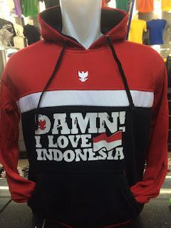 gambar desain terbaru jaket Damn@ foto photo kamera Jaket Sweater Damn! I Love Indonesia warna merah hitam terbaru di enkosa sport toko online terpercaya lokasi di jakarta pusat pasar tanah abang
