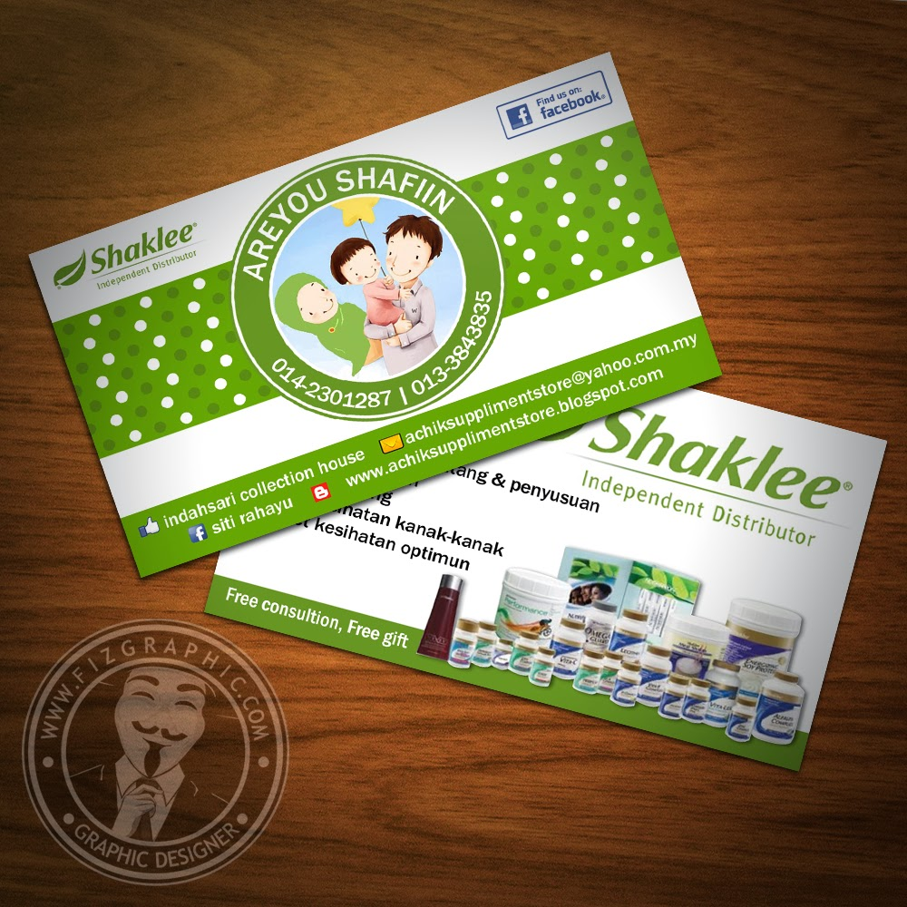 Fizgraphic design printing business card 30 for Shaklee business cards