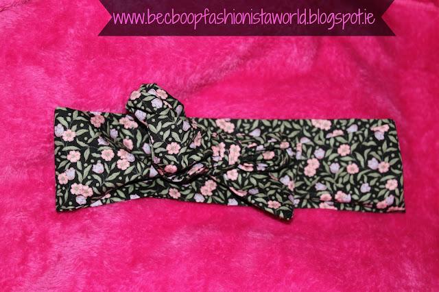 August Thrift Finds Pandoras Box Galway floral headband