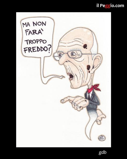 vignetta satirica su Napolitano