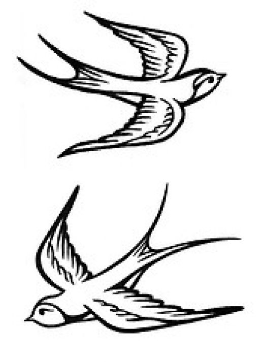 Black sparrow tattoos - photo#21