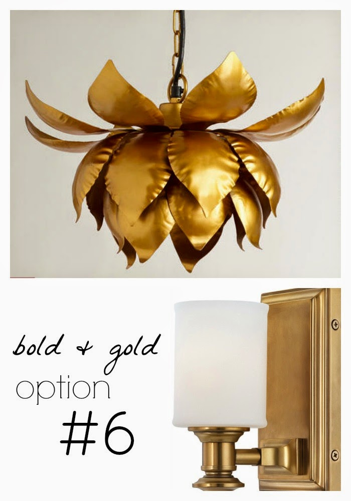 Bold and Gold Bathroom Lighting