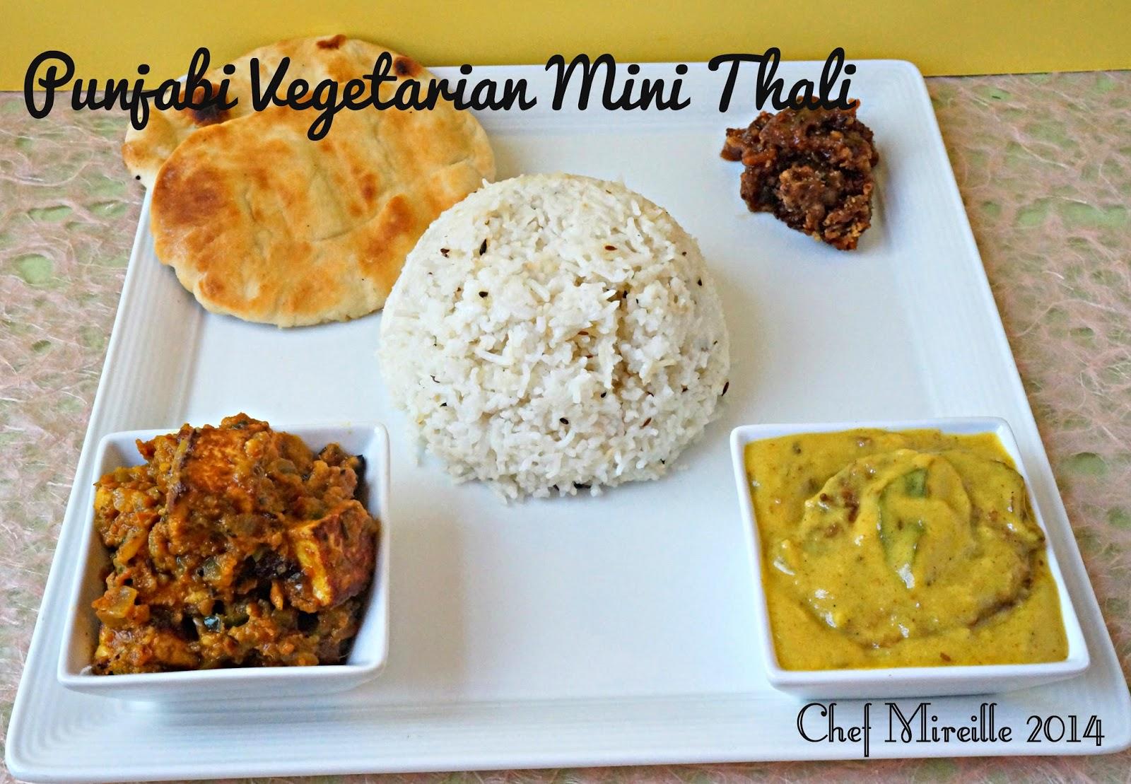 Punjabi mini thali for Awadhi cuisine vegetarian
