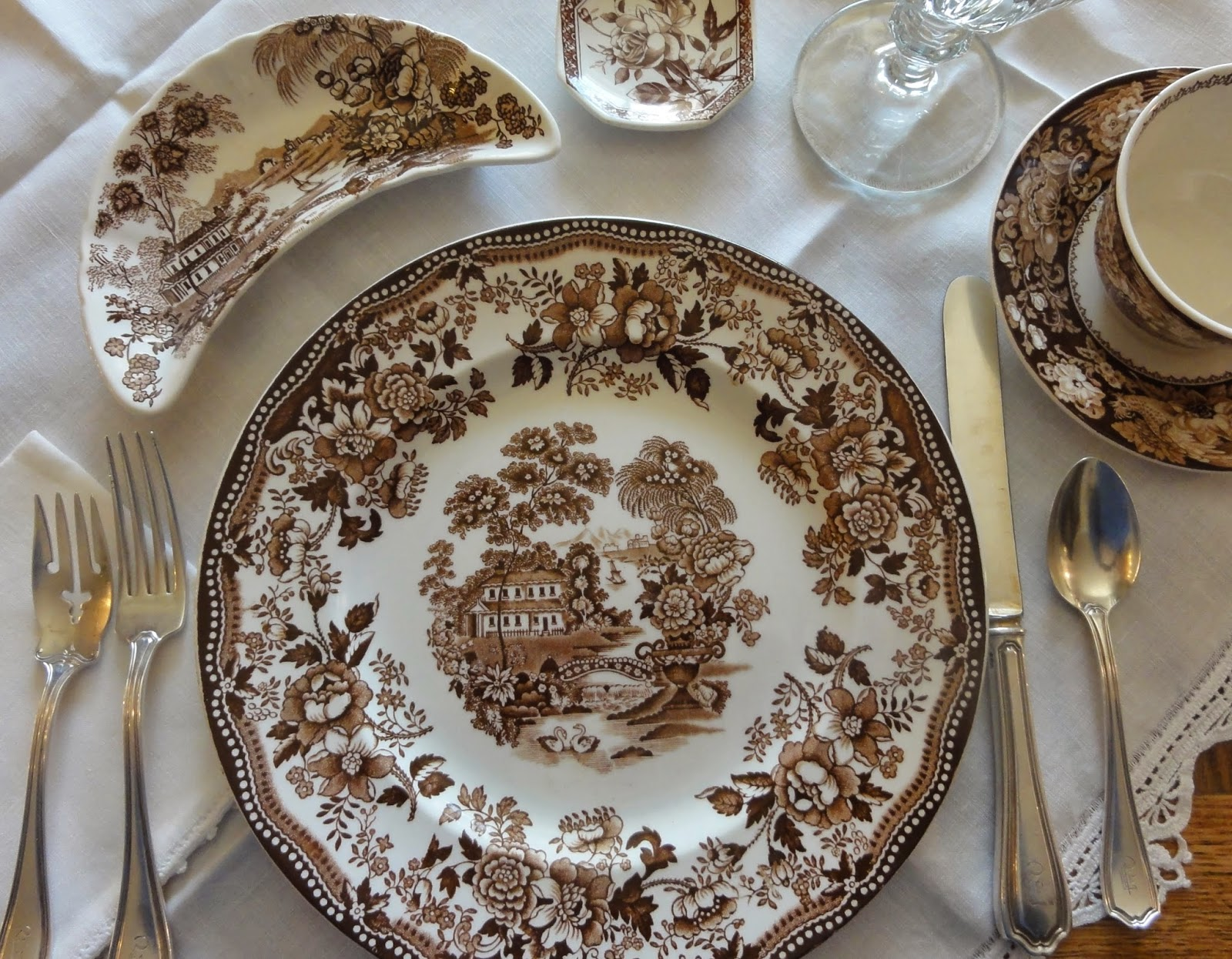 English Victorian Hanley Butter Dish
