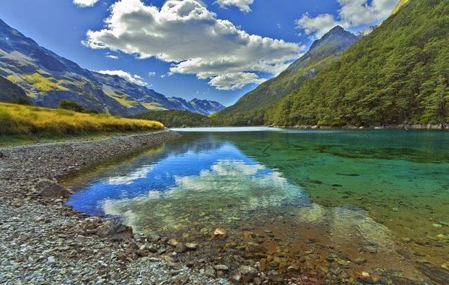 Dünya'nın En Güzel ve En Temiz Gölü! Yeni Zelenda Nelson Gölleri Ulusal Parkı Mavi Göl!