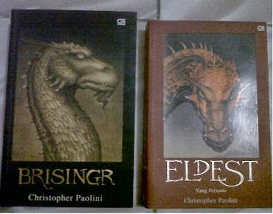 Novel Eldest, Brisingr by Christopher Paoloni Bekas
