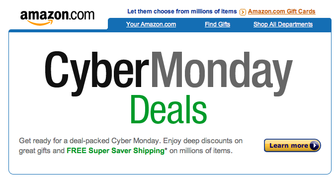 CyberMonday: Amazon Cyber Monday 2011 Deals