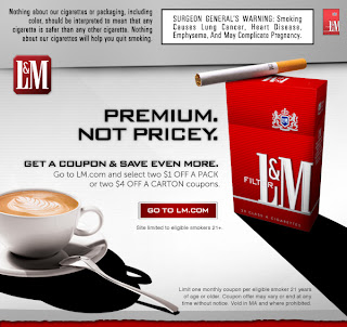 l&m cigarettes coupon 2012