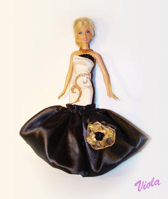 sukienka dla lalki barbie
