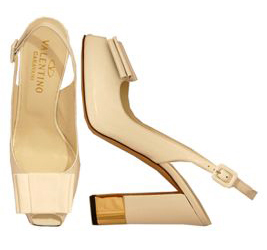 valentino+golden+peep+toe