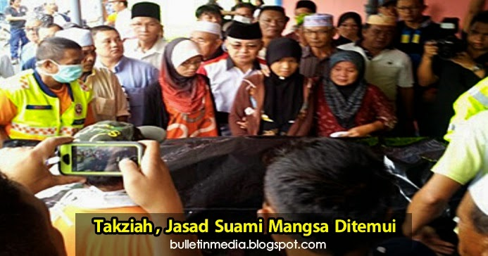 Takziah, Jasad Suami Mangsa Bot Terbalik Ditemui di Kampung Geliga Che Akob, Kemaman..