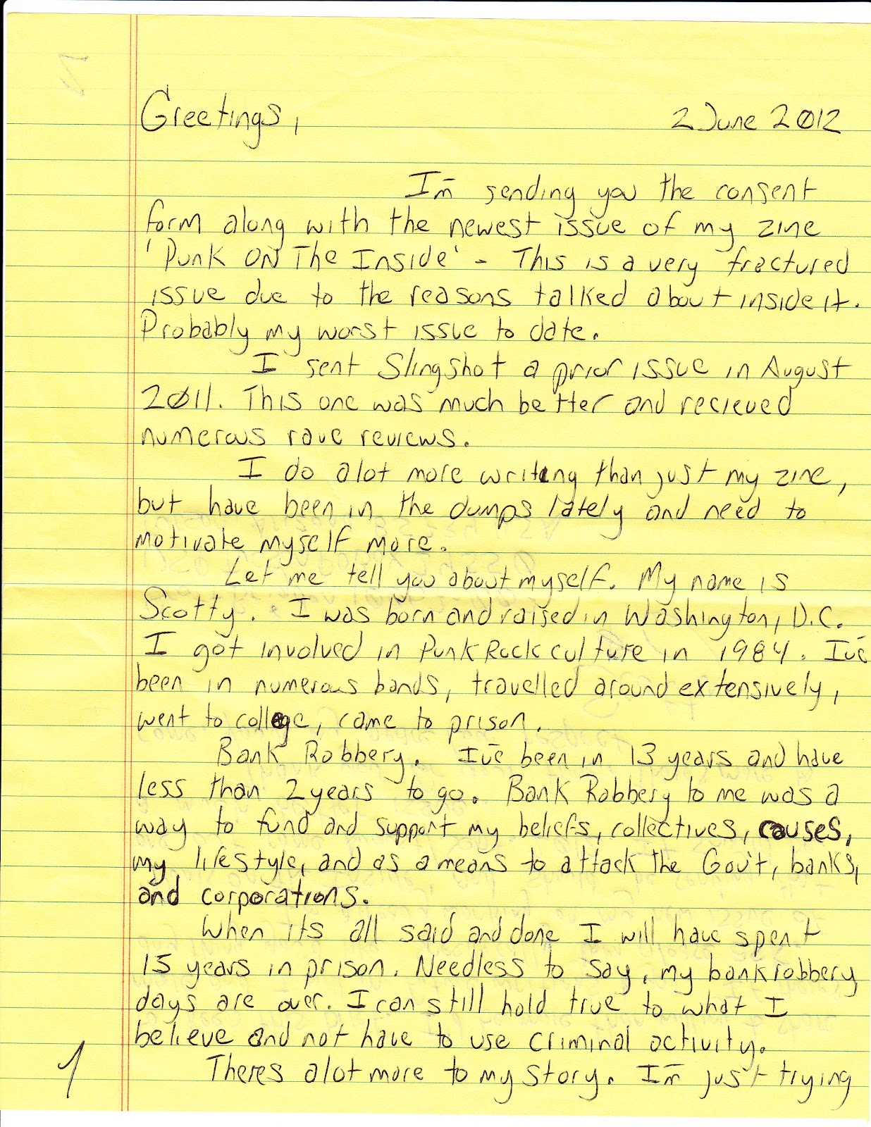 letter from prison