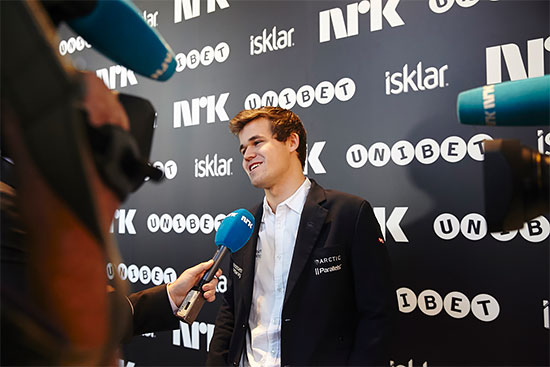 Le champion du monde d'échecs Magnus Carlsen - Photo © site officiel