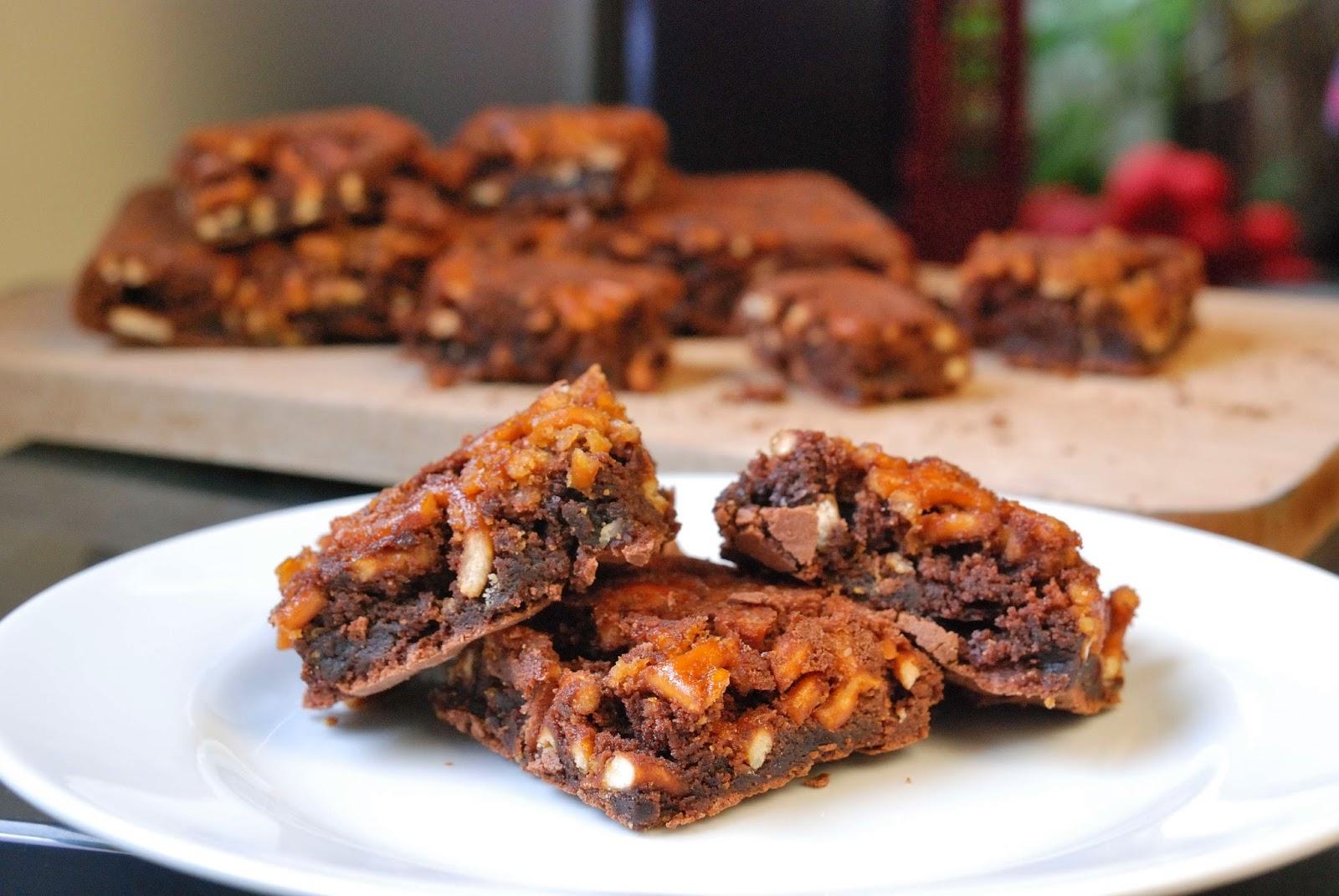 brownies with caramelized pretzel crust recipe