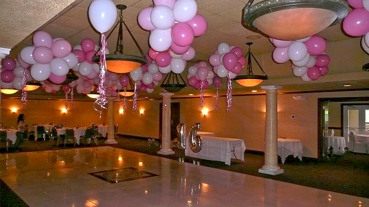 Bunga lampion balon for Balloon decoration ideas for sweet 16