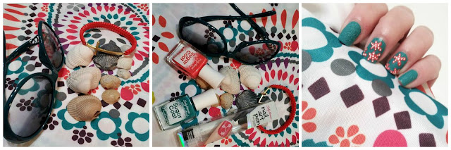Sally Hansen Beach Manicure #Iheartmynailart