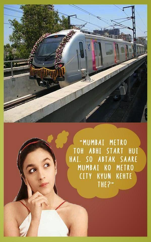 Alia Bhatt Joke on Mumbai metro